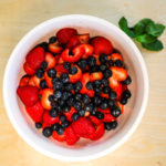 Watermelon, Strawberries and Blueberries.