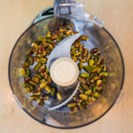 Pistachios in food processor