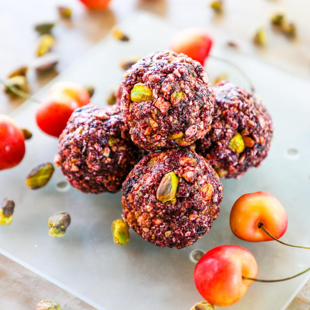 Pistachio Cherry Energy Balls