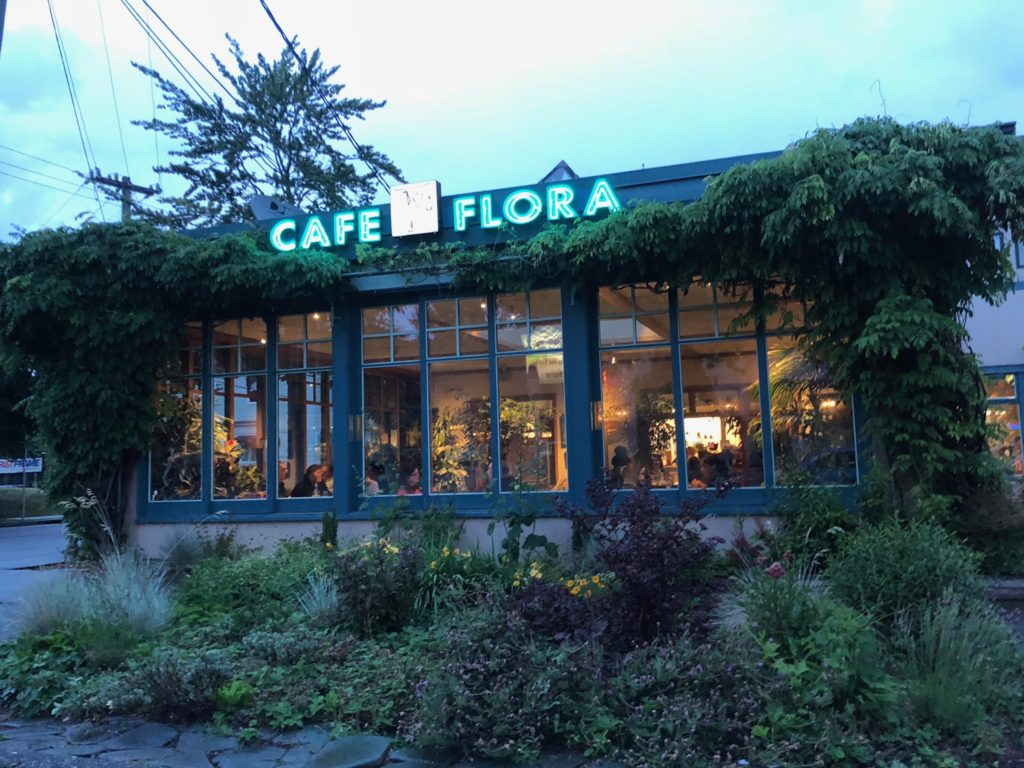 Cafe Flora, Seattle Washington.